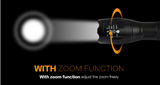 CREE XM-L T6 LED Waterproof Tactical Flashlight - Bullseye Discounts
