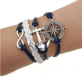 Handmade Multilayer Leather Chord Bracelets - Bullseye Discounts
