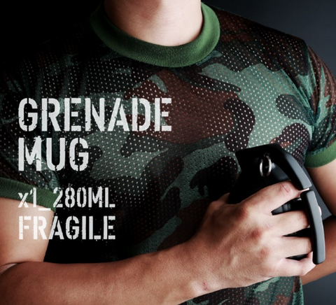 Grenade Ceramic Mug With Lid - Bullseye Discounts