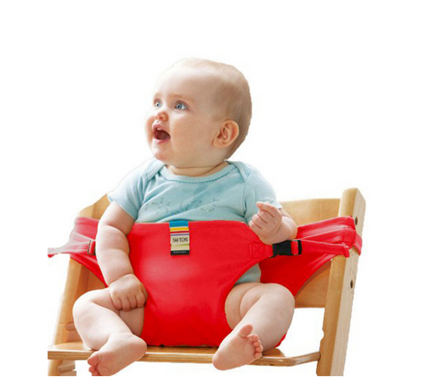 Portable Infant Chair Seat Safety Belt Stretch Wrap Feeding Chair Harness - Bullseye Discounts