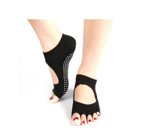 Comfortable Five Toes Non Slip Grip Yoga Pilates Socks Offer - Bullseye Discounts