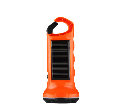 2 LEDs 0.35W Solar Panel Powered Flashlight - Bullseye Discounts