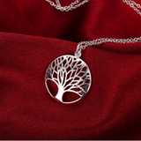 Silver Tree Of Life Pendant Necklace - Bullseye Discounts