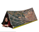 Outdoor Portable Emergency Shelter Mylar Tube Tent - Bullseye Discounts