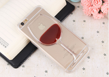 Transparent Red Wine Cup Hard Back Cover Phone Case for iPhone - Bullseye Discounts