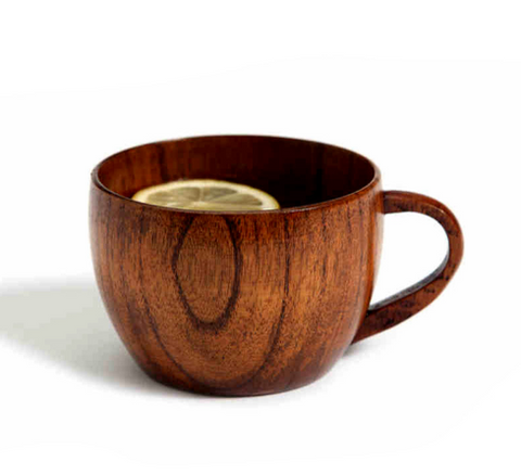Handmade Natural Jujube Wooden Cup With Handgrip - Bullseye Discounts