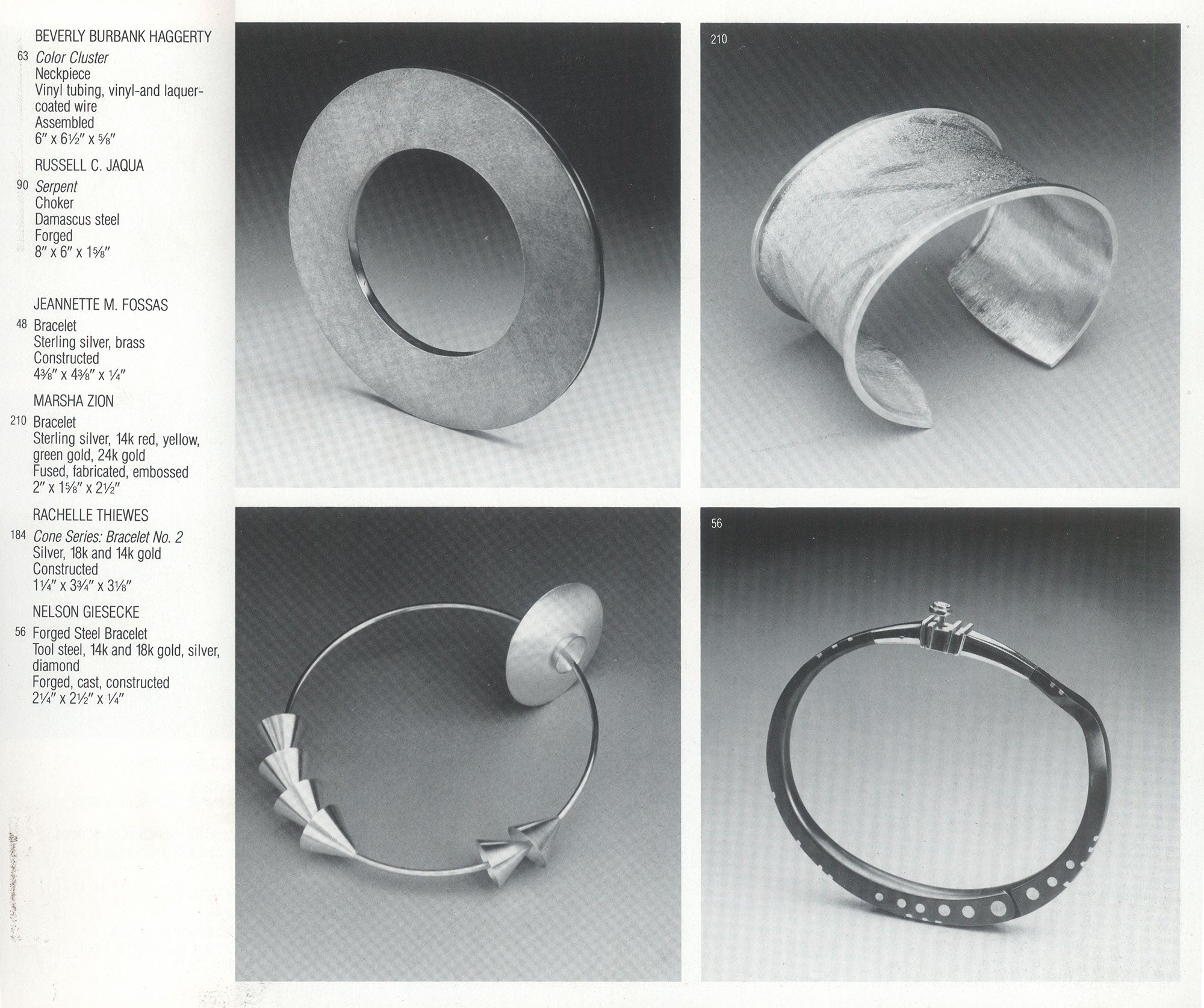 Jewelry USA - American Craft Museum II / New York, USA / Catalog / 1984