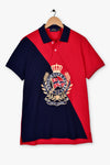 Roomy Crest Logo Polo Shirt
