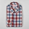 SCARLET MADRID CHECK BUTTON DOWN SHIRT