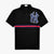 GUCCI Applique Logo Striped Black Polo