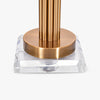 ITALIAN DESIGN SLEEK METALLIC RODS TABLE LAMP