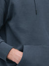 RESERVED BASIC ORGANIC COTTON RICH NAVY HOODIE