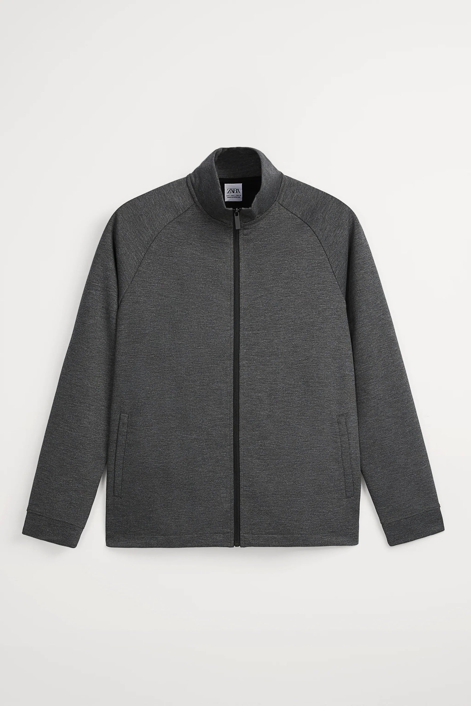 TECHNICAL FABRIC ANTHRACITE TRACK JACKET