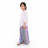 STRIPED RAINBOW LINEN FLARED TROUSER