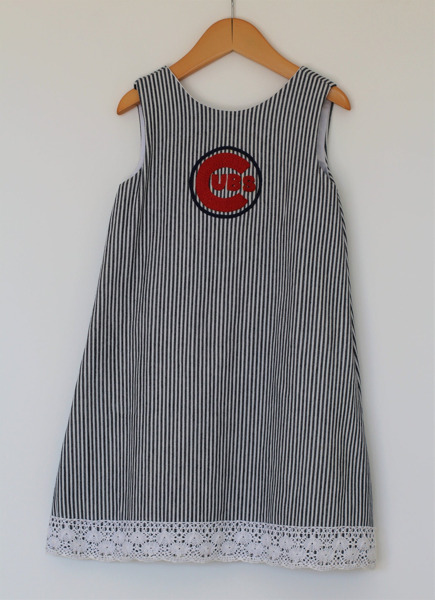 Ballpark Beauties - Bow Back Dress - Cubs - Size 5T - Year End Sale - RTS