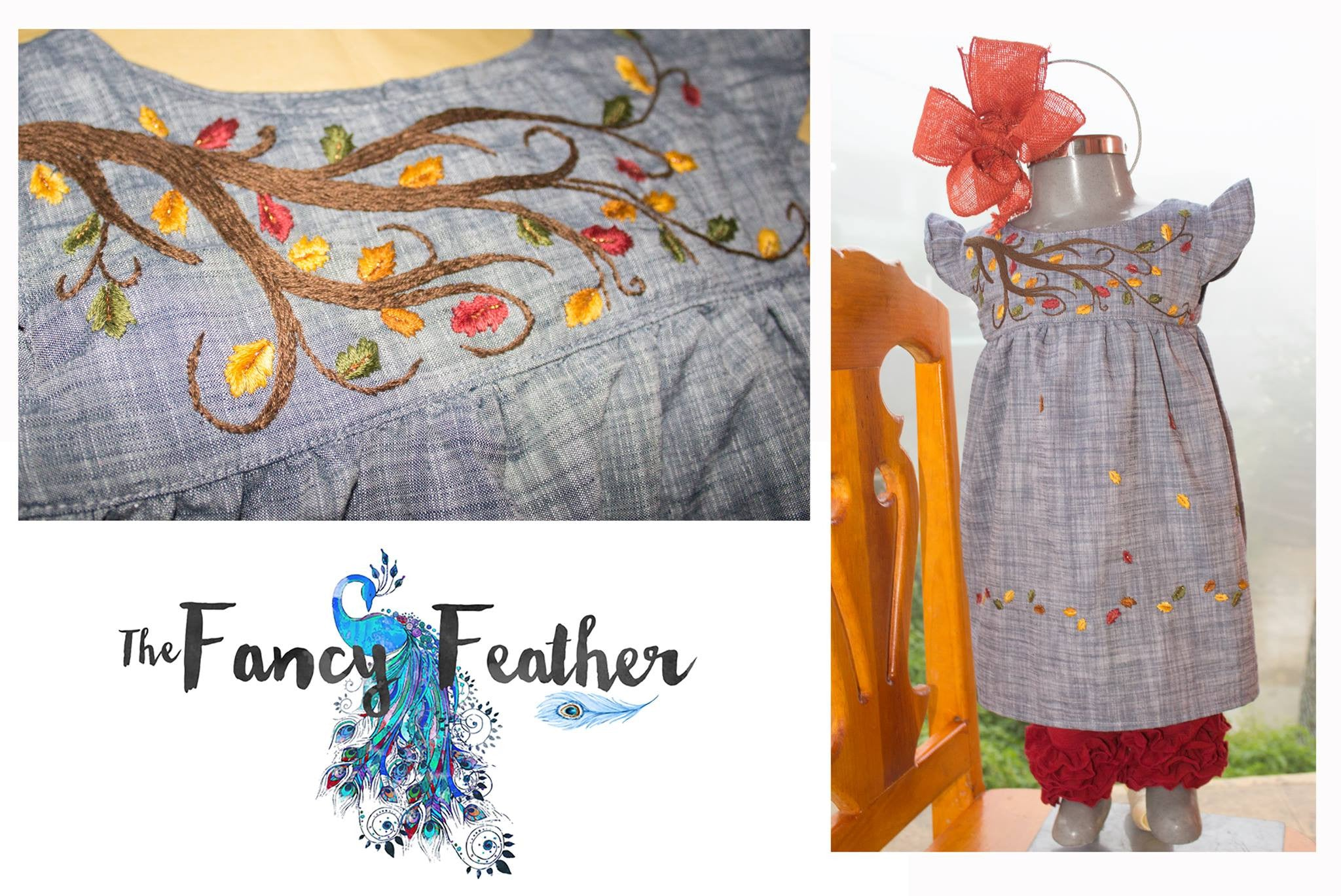 Falling Leaves in Chambray - Past Autumn Releases
