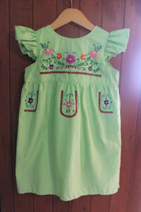 Fancy Heritage Dress - Spring Green - Size 7 - RTS