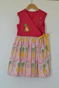 Pineapple Wrap Dress - Size 8 - Year End Sale - RTS