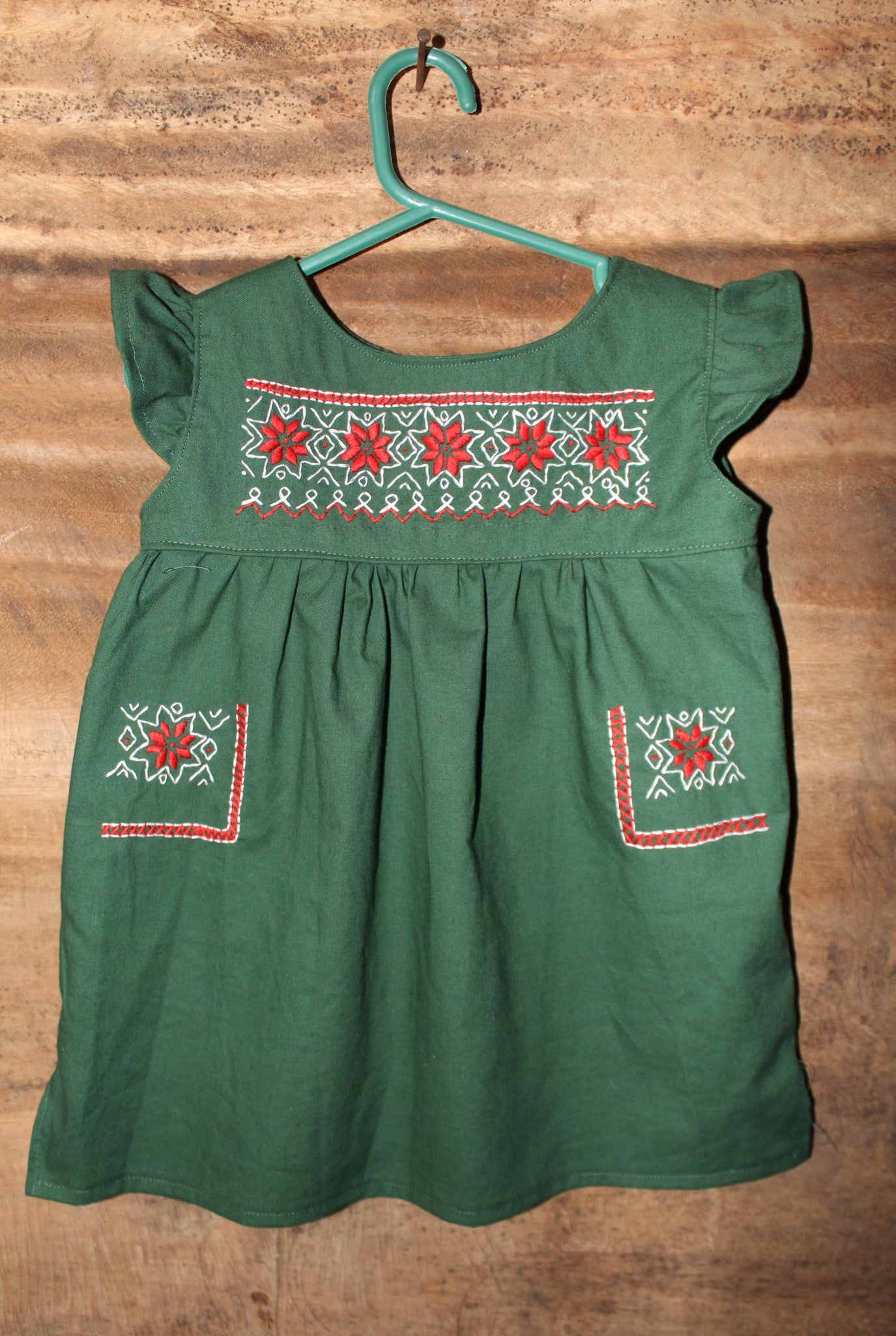 Traditional Oaxaca Dress - Aztec Christmas Detail - Past Winter Release