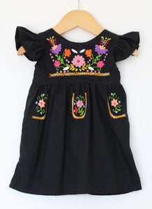 Fancy Heritage Tunic - Black - Size -6m - Year End Sale - RTS