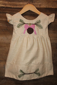 Traditional Tunic - Pine Detail - Printed Linen -