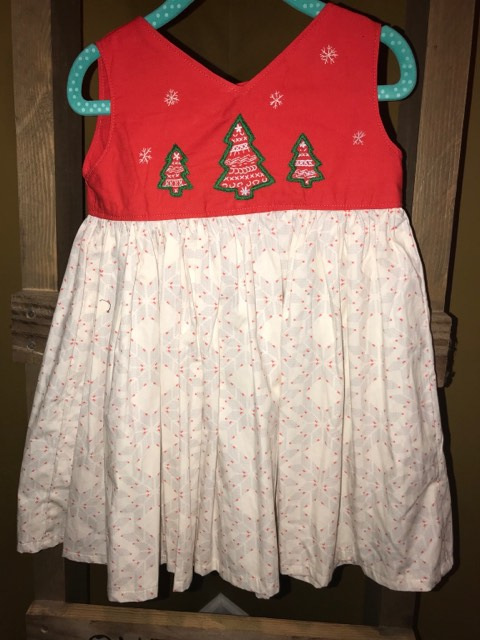 Fancy Fair isle Christmas w/o Sash - 2T