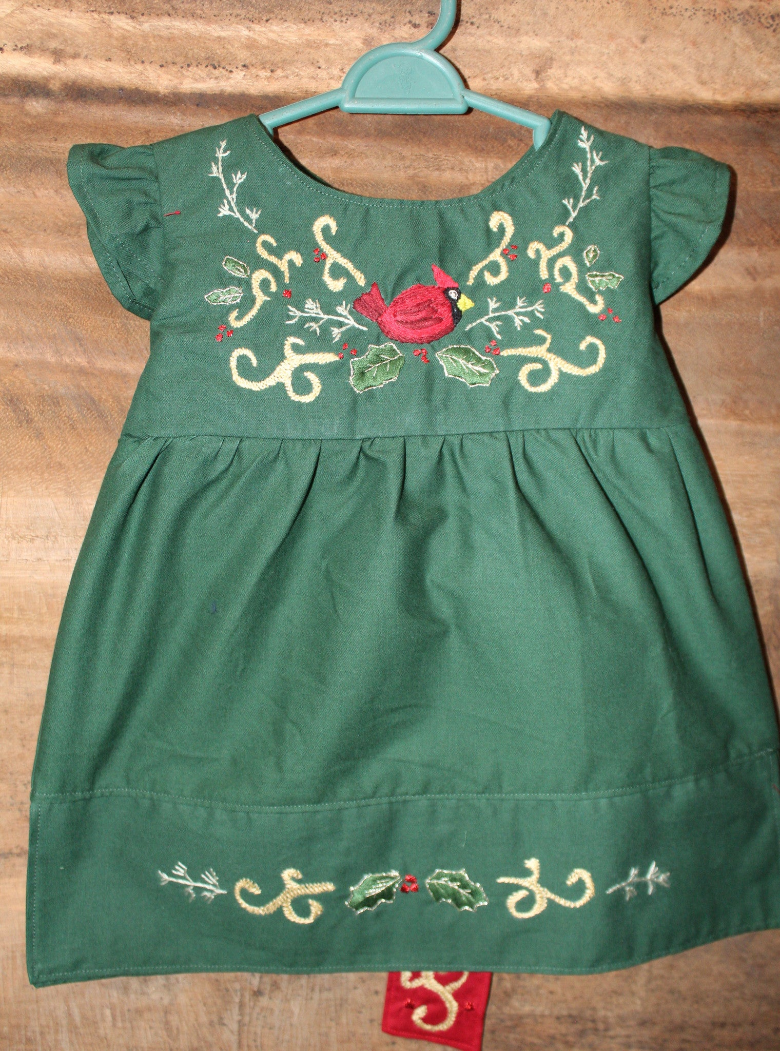 Christmas Top w/ Sash - Cardinal Detail - Past Winter Release