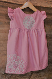 Traditional Tunic - Mauve - Lace Detail -