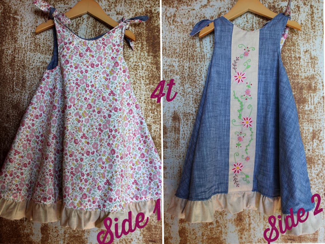Reversible Dress - Chambray & Floral