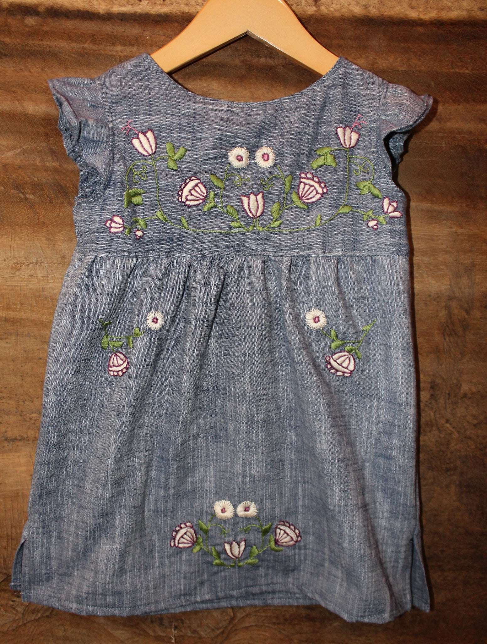 Floral design on Chambray - Past Winter Release