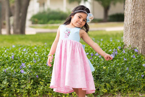 Spring Dreams - Knee-Length Dress (Sizes 3m - 3T)
