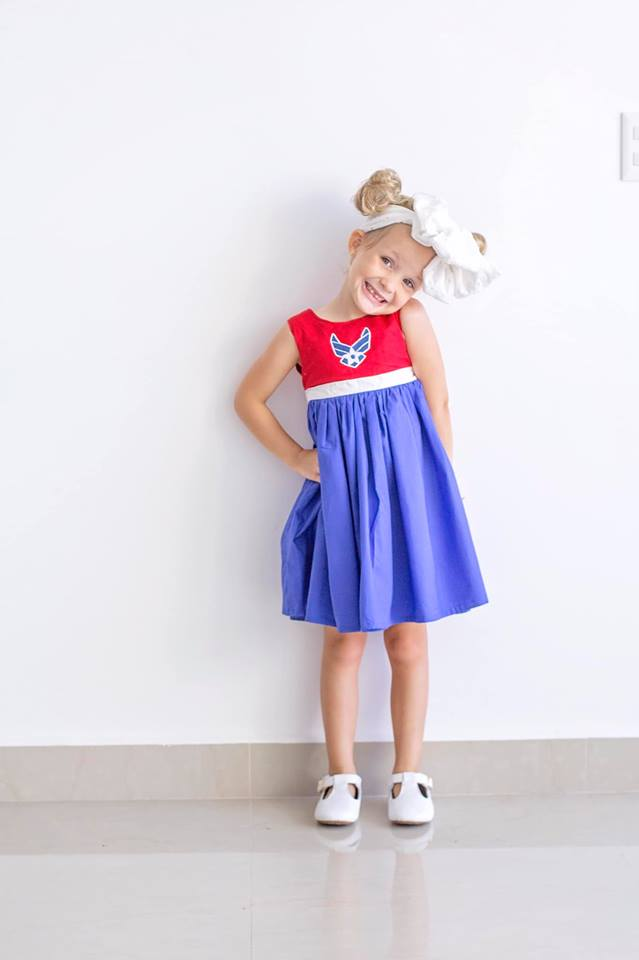 Fancy Little Firecracker - Red, White, & Blue Dress