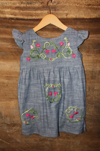 Traditional Oaxacan Tunic - Chambray - Past Traditional