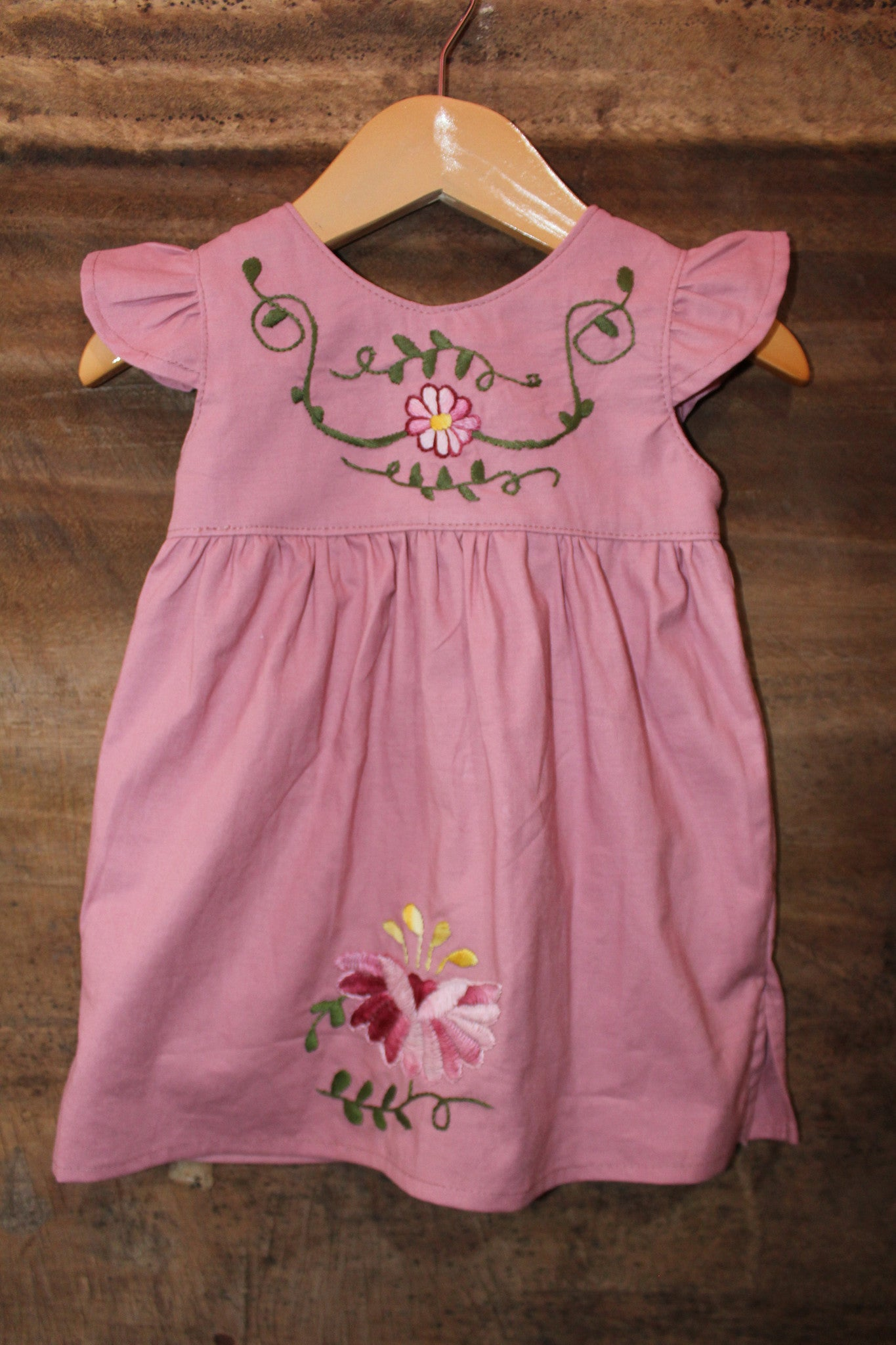 Traditional Oaxacan tunic on Rose - Past Traditional