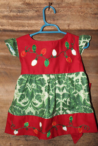 Christmas Tunic w/ Sash - Christmas Light Detail - Past Winter Release
