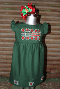 Traditional Oaxaca Tunic - Aztec Christmas Detail -Past Winter Release
