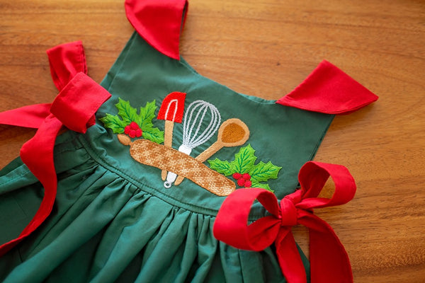 """Baking Spirits Bright"" Pre-order  - Girl's Apron"