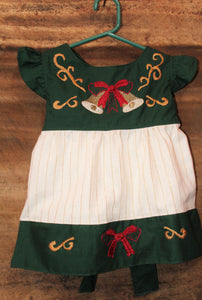 Christmas Tunic w. Sash - Christmas Bells Detail - Past Winter Release
