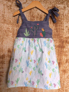 """Aloe From the Other Side"" - Spaghetti Strap w/ Sash - Size 3T"