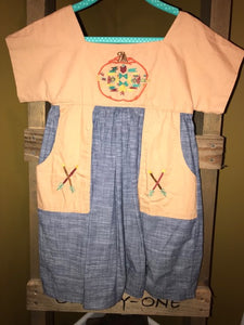 Aztec Pumpkin Dress w/ Pockets - Size 6