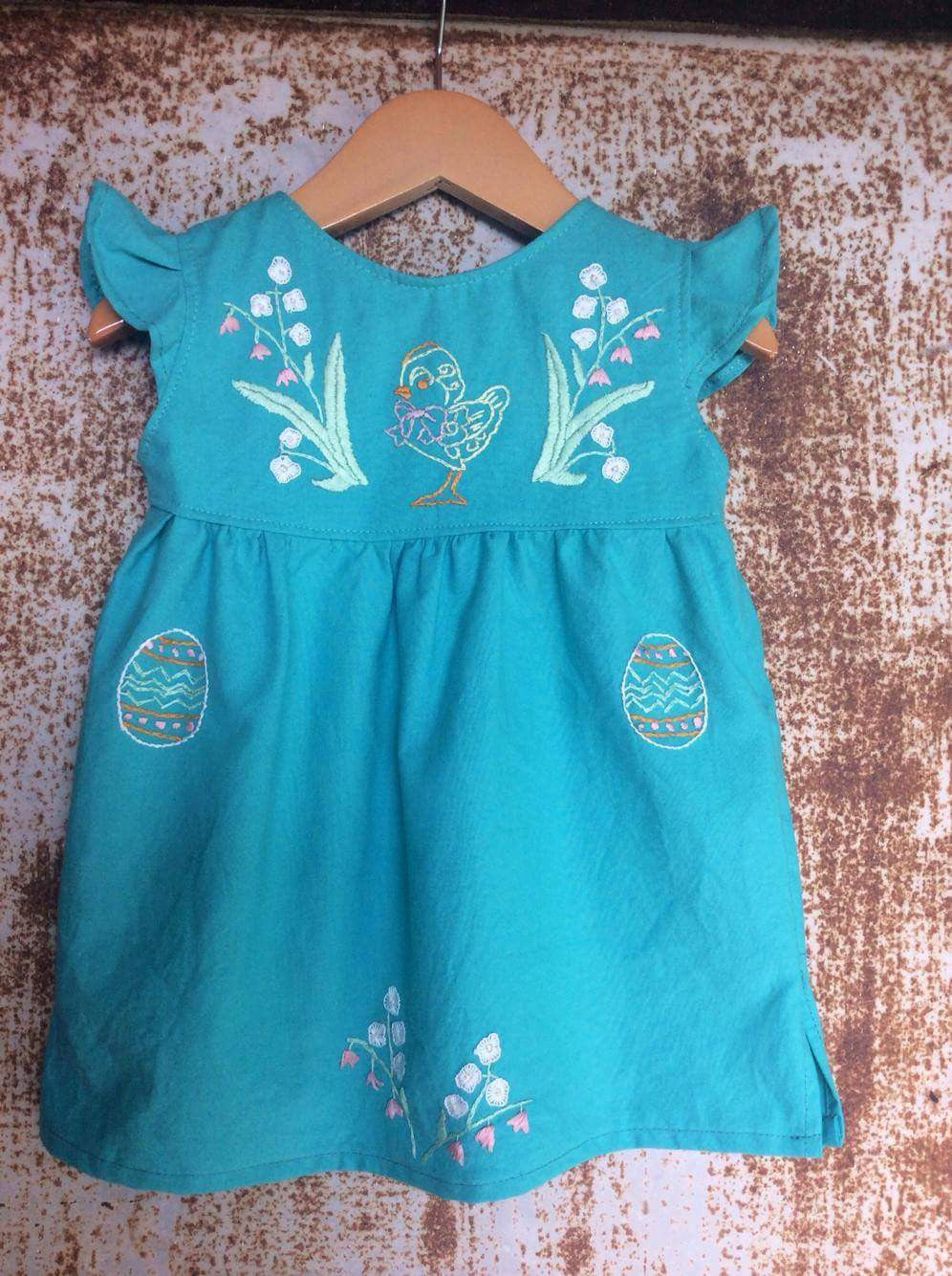 Local Cotton Paradise Blue Chickadee Dress-  Past Easter