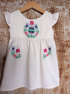 Cream Easter Egg Dress on Local Unbleached Cotton  -Past Easter
