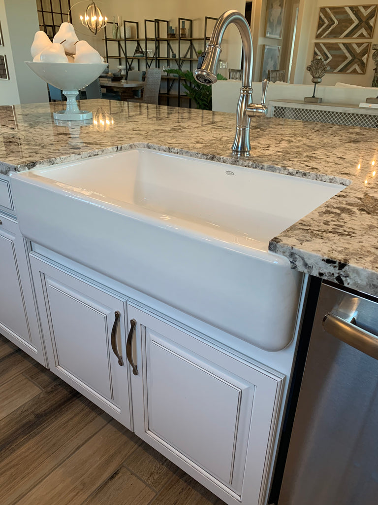 White Farmhouse Sink