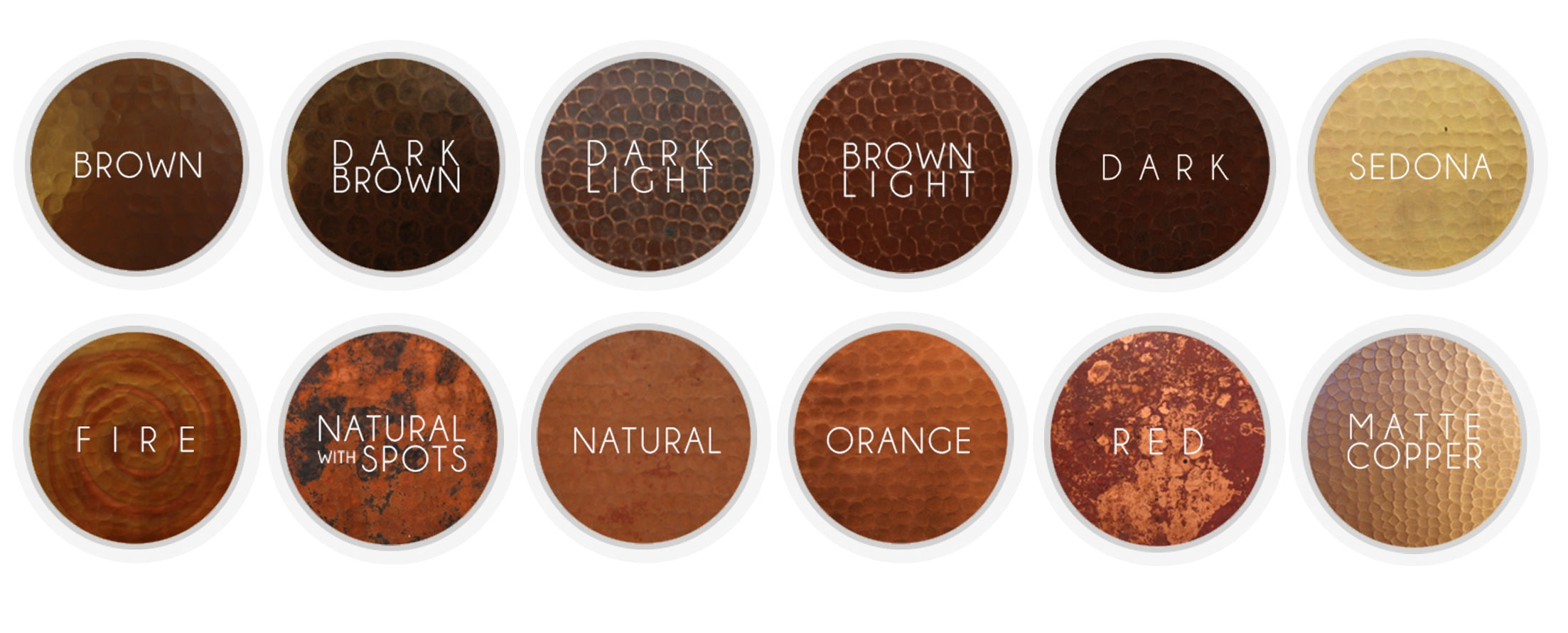 what are the color choices for our copper products u2013 rustic sinks