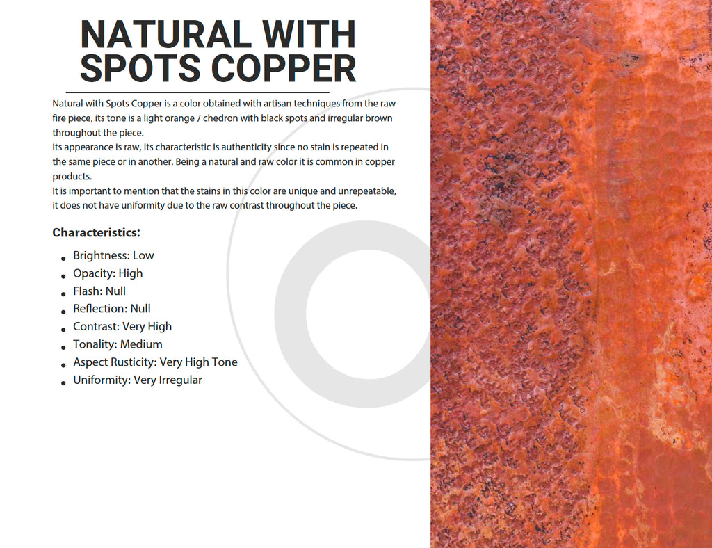 Natural with Spots Copper