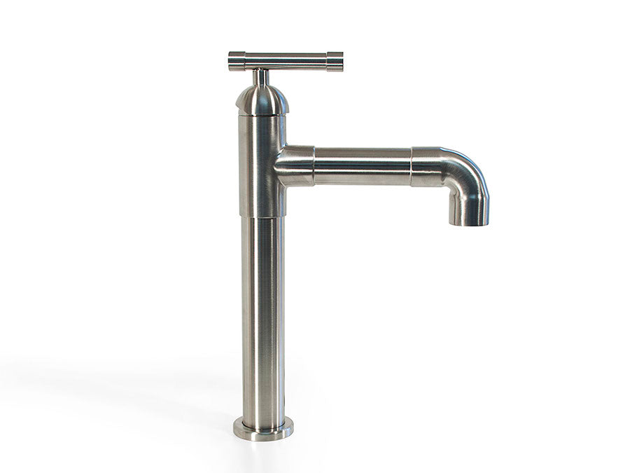 Short Lavatory Faucet with Elbow Spout
