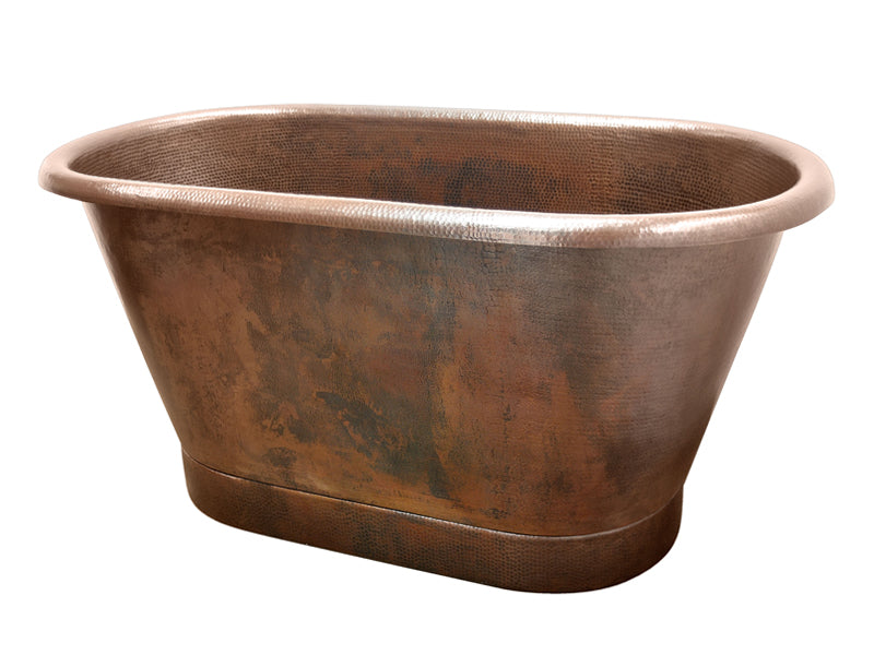 Modern Hammered Copper Bathtub