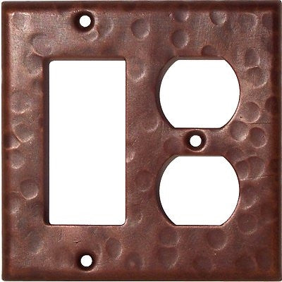 Outlet/GFI Hammered Copper Switch Plate Cover