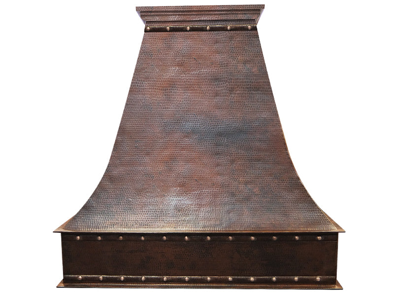 Wall Mount Copper Range Hood with Rivets