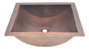 "20"" Concave Lavatory Copper Sink"